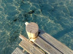 Il pontile sud della baia di S.ta Giulia, Corsica, tre giorni fa.