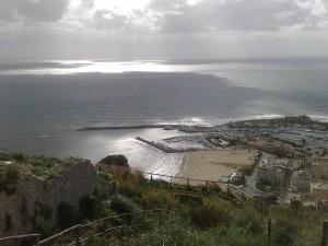 Stamattina a Terracina. Nuvole dopo il sole